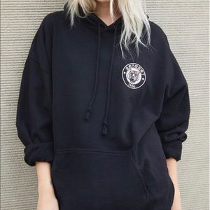 Black brandy Melville oversized tiger hoodie !